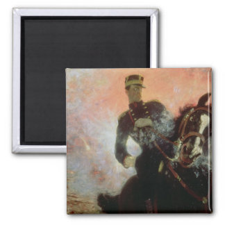 Albert I  King of Belgians in the First World 2 Inch Square Magnet