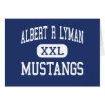 Albert R Lyman Mustangs Middle Blanding Utah Greeting Card