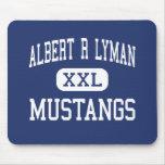 Albert R Lyman Mustangs Middle Blanding Utah Mouse Pad