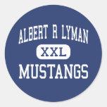 Albert R Lyman Mustangs Middle Blanding Utah Classic Round Sticker