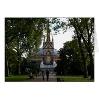 Albert real Pasillo y monumento del Príncipe Alber Tarjeta Pequeña