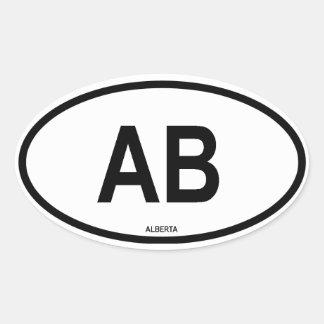 "Alberta ""AB "" Pegatina Ovalada"