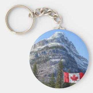 Alberta - BC Boarder Basic Round Button Keychain