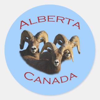 Alberta, Canada Classic Round Sticker