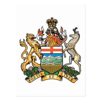 Alberta (Canada) Coat of Arms Postcard