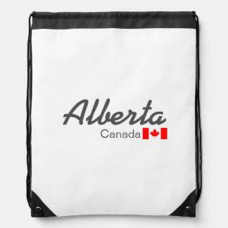 Alberta, Canada Drawstring Backpack