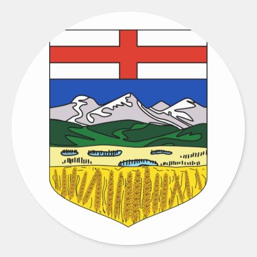 Alberta, Canadá Pegatina Redonda