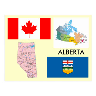 Alberta, Canada Postcard