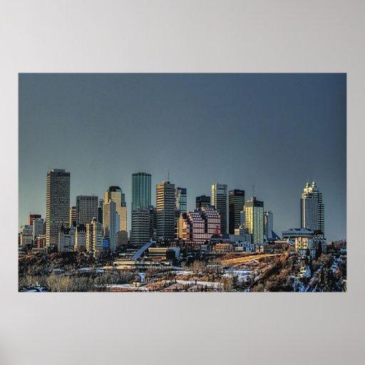 Alberta Canada Skyline Poster