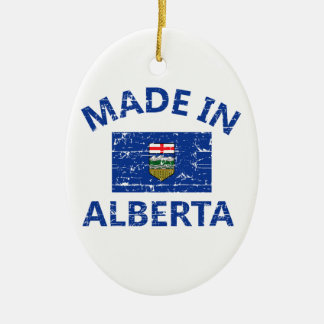 Alberta Coat of arms Ceramic Ornament