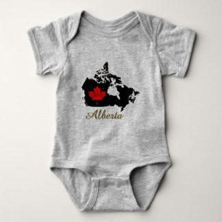 Alberta Customizable custon love Canada Province Baby Bodysuit