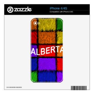 ALBERTA ( female names ) Skin For The iPhone 4
