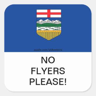 Alberta Flag No Flyers please Mail Box Sticker