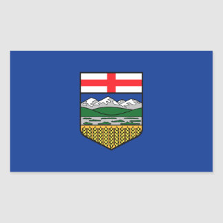 Alberta Flag Rectangular Sticker