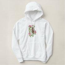 Alberta Great Horned Owl Embroidered Sweatshirt
