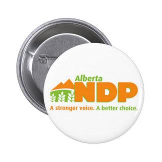 Alberta NDP A Stronger Voice A Better Choice Logo Pinback Button