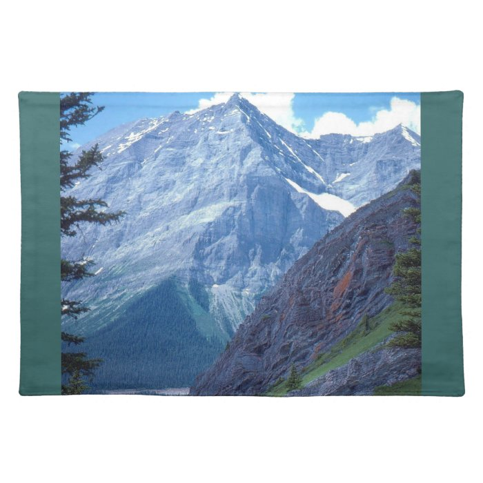 Alberta Rocky Mountains Cloth Placemat