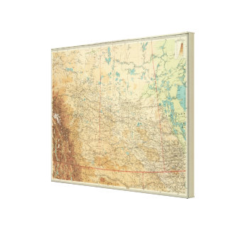 Alberta & Saskatchewan Canvas Print