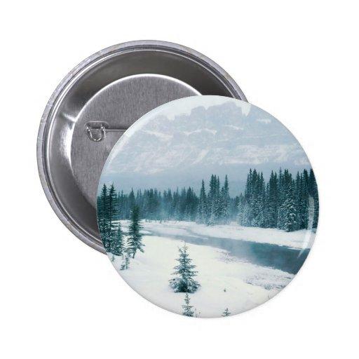 Alberta Snowy Scene Buttons