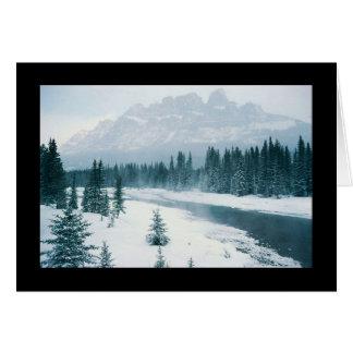 Alberta Snowy Scene Greeting Card