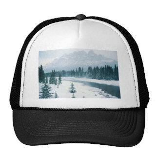 Alberta Snowy Scene Mesh Hat