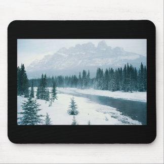 Alberta Snowy Scene Mousepads