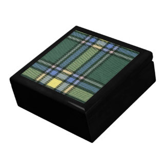 Alberta Tartan Ceramic Tile Inlay on Wood Box