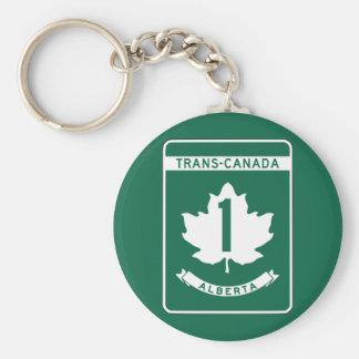 Alberta, Trans-Canada Highway Sign Keychains