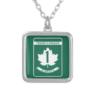Alberta, Trans-Canada Highway Sign Custom Jewelry