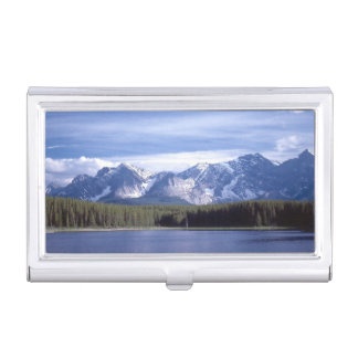 Alberta's Rocky Mountains Business Card Holder