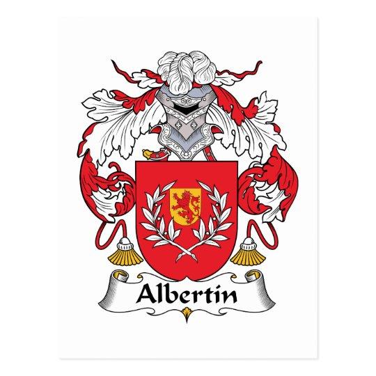 Albertin Family Crest Postcard
