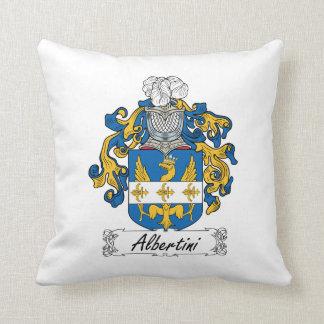 Albertini Family Crest Throw Pillow