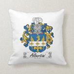 Albertini Family Crest Throw Pillows