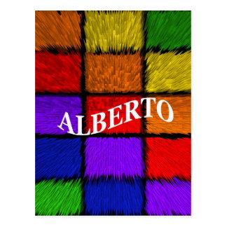 ALBERTO (male names) Postcard