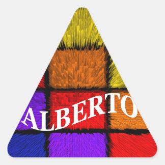 ALBERTO (nombres masculinos) Pegatina Triangular