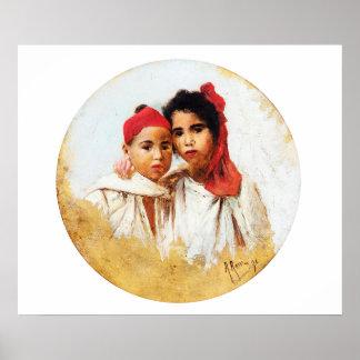 Alberto Rossi - Algerian Children Poster