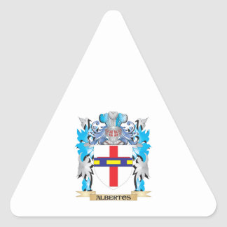 Albertos Coat Of Arms Triangle Sticker