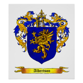 Albertson Coat of Arms Poster