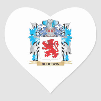 Albeson Coat Of Arms Heart Sticker