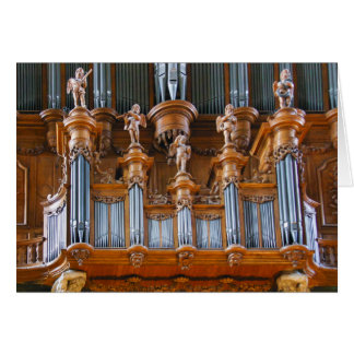 Albi Cathedral organ, France Greeting Card