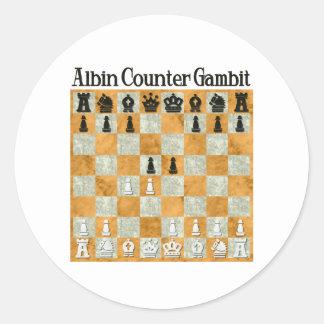 Albin Countergambit Classic Round Sticker