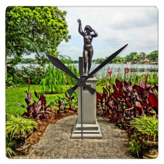 Albin Polasek Sculpture Gardens Winter Park FL Square Wall Clock