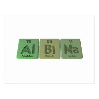 Albina as Aluminium Bismuth Sodium Postcard