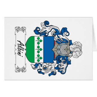 Albini Family Crest Greeting Card