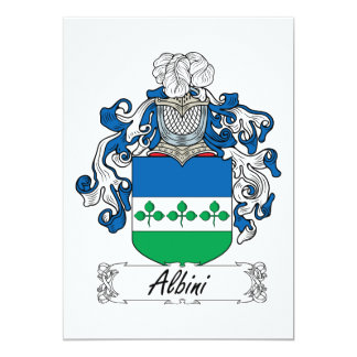 Albini Family Crest 5x7 Paper Invitation Card