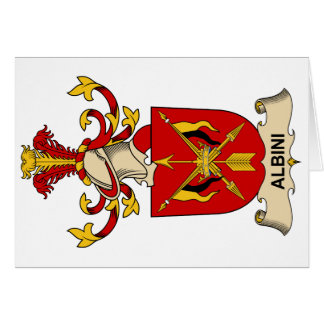 Albini Family Crests Greeting Card
