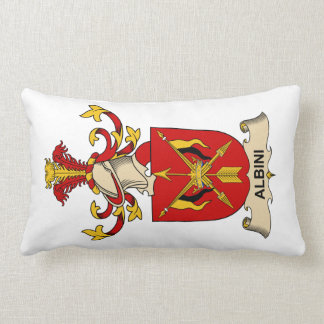 Albini Family Crests Throw Pillow