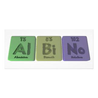 Albino-Al-BI-Ninguno-Aluminio-Bismuto-Nobelio Tarjetas Publicitarias Personalizadas
