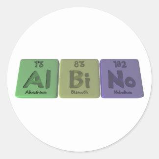 Albino-Al-Bi-No-Aluminium-Bismuth-Nobelium Classic Round Sticker