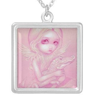 Albino Alligator Angel NECKLACE fairy gothic